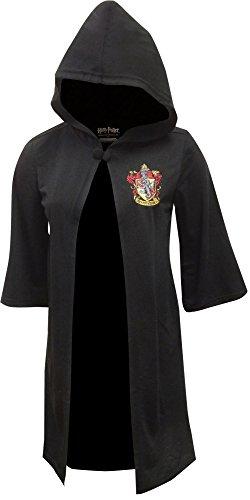 Harry Potter Gryffindor Robe Child Costumes (Harry Potter Big Boys' Harry Potter 'Hogwarts House Crest Magic Wizard Cloak' Costume Robe, Black, S)