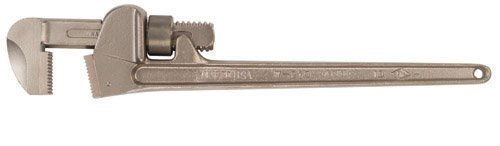 Ampco Safety Tools W-213 Bronze Pipe Wrench, Non-Sparking, Non-Magnetic, Corrosion Resistant, 18 OAL