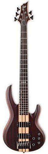 ESP LTD B-5E 5-String Bass Guitar, Natural Satin (Electric Bass Natural Guitar)