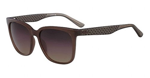 Lacoste Women's L861s Petite Pique Square Sunglasses, Brown, 55 - Sunglass Lacoste