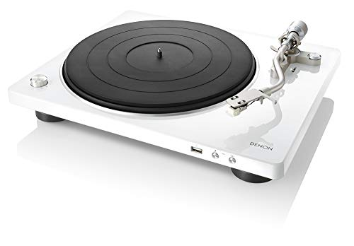 Price comparison product image DENON USB Memory Direct Recording Compatible Authentic Manual Record Player DP-450USB (White) DP-450USBWTEMJapan Domestic Genuine ProductsShips from Japan