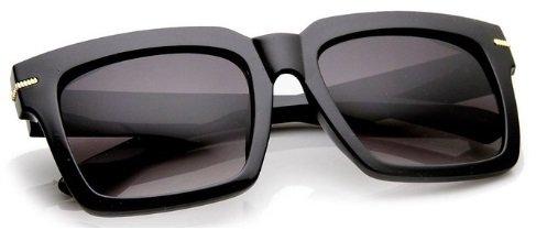 Womens Oversize Square MOD Sunglasses Large Designer Inspired Frame (Black | - Glasses Guys Popular For