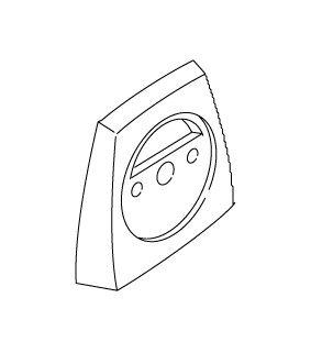 Kohler 1009790-G Hood, Overflow, Brushed Chrome