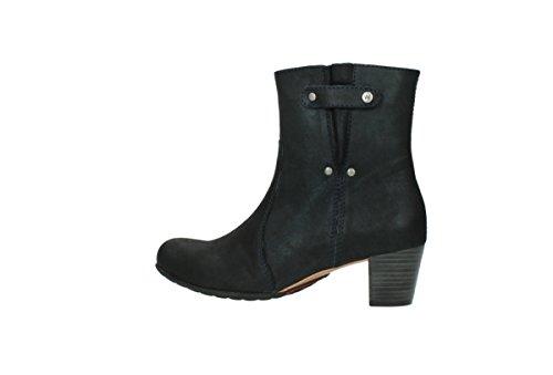 Mambo 10800 Metallizzato Pelle Boots Wolky Blu Comodità Screziato Caviglia Scuro qgIvAFtw