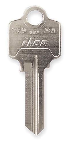 - Key Blank, Brass, Type AR1, 5 Pin, PK10