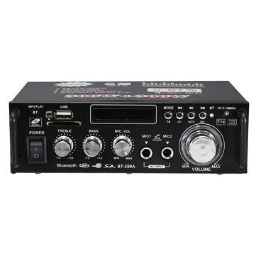 Price comparison product image SumoTik BT-298A 12V 220V Audio Stereo Power Amplifier Bluetooth FM Radio 2CH 600W - Home Audio & Video Home Theatre System
