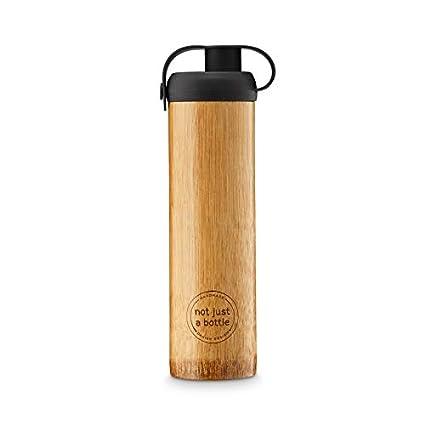 Amazon.com: IPPINKA - Botella de agua de bambú y silicona ...