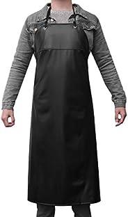 LUOEM Waterproof Unisex Heavy Duty Apron for Butchers Kitchen (Black)