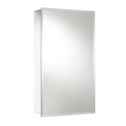 Croydex WC101269YW 26-Inch x 15-Inch Recessed or Surface Mount Medicine Cabinet with Hang 'N' Lock, Aluminum by Croydex by Croydex
