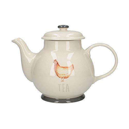 CreativeTops Feather Lane Farmhouse Chicken Hen Large Ceramic Teapot 1.7 L