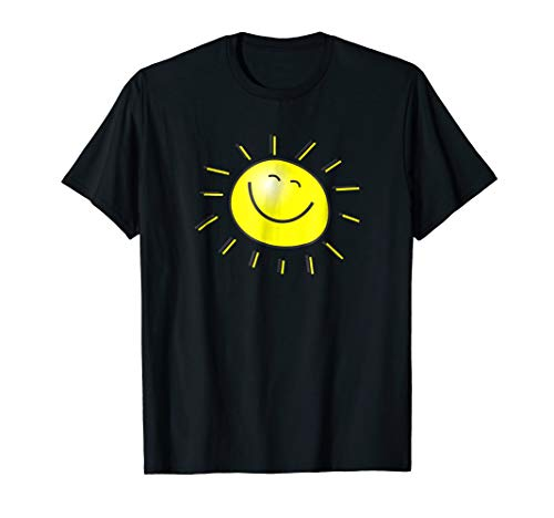 Smiley Face Sunshine Sun T-Shirt Kids Summer Happy Fun Smile ()