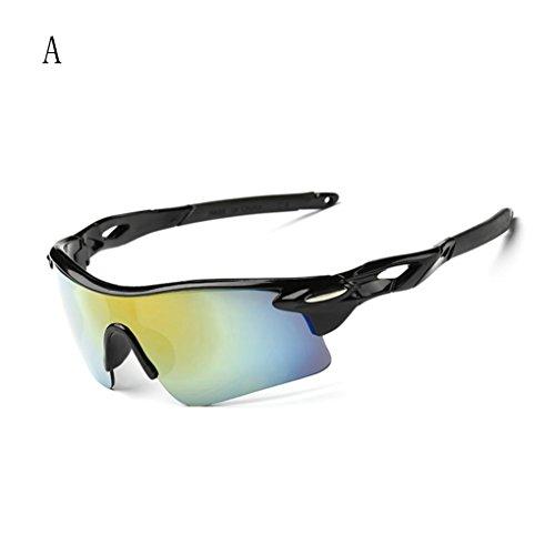 TIFENNY Outdoor Sport Cycling Bicycle Bike Riding Sun Glasses Eyewear Goggle UV400 Lens (A, - Uv400 High Acetate Sunglasses Quality