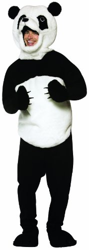 Rasta Imposta Panda Costume, Black/White, One Size (Panda Costume Adult)