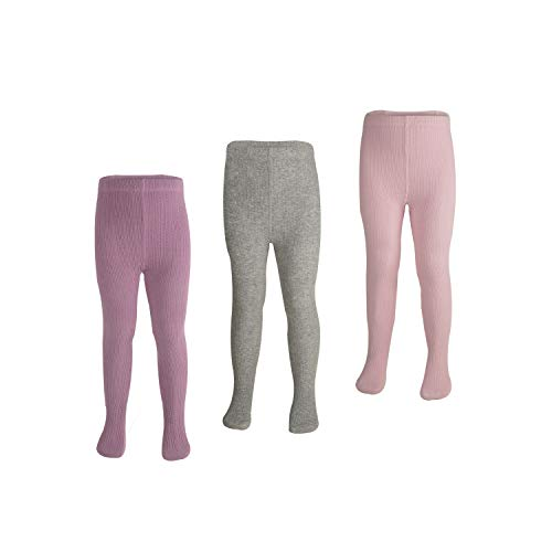 Girls Cotton Tights Footed Seamless Cable Knit Dance Toddler Baby Girls' Leggings 3 ()
