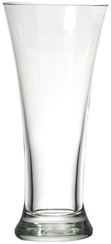 Circleware 55677 Quench Beer Drinking Glasses Set of 4, Home & Kitchen Entertainment Dinnerware Highball Glassware for Water, Wine, Juice and Bar Liquor Dining Decor Beverage, 11.8 oz, Pilsner 4pc