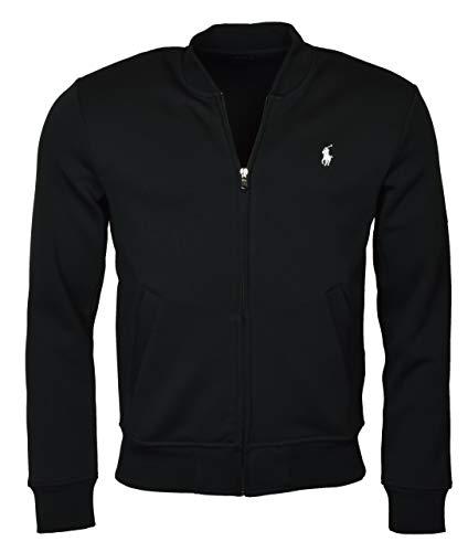 RALPH LAUREN Polo Men's Double Knit Long Sleeve Knit Bomber Jacket (XXL) (Lauren Mens Fleece Ralph)