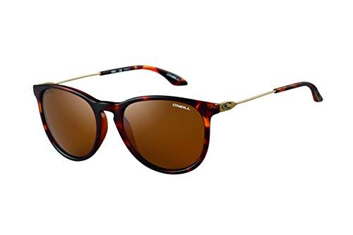 O'Neill Shell 102P Women's Round Polarized Sunglasses, Matte Tortoise Shell - Tortoise Shell Sunglasses Women