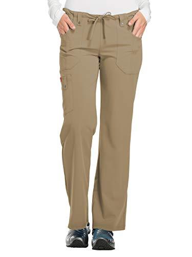 Dickies Women's Xtreme Stretch Fit Drawstring Flare Leg Pant, Dark Khaki, Small