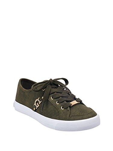 G Av Gjette Kvinners Baylee Perforert Joggesko Mørkegrønn. sko; En gummisåle