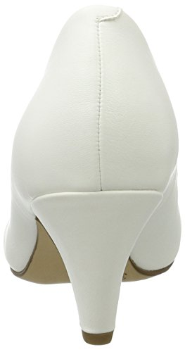 22416 Femme White Tamaris Matt Blanc Escarpins 17dTwA