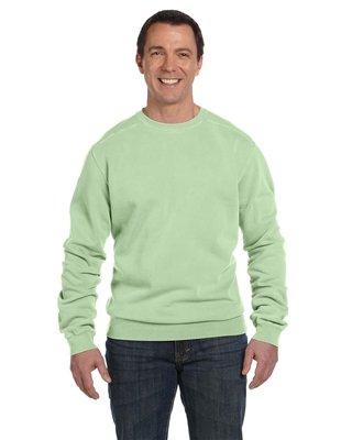 Authentic Pigment 11 oz. Pigment-Dyed Ringspun Cotton Fleece Crew - CELERY - S