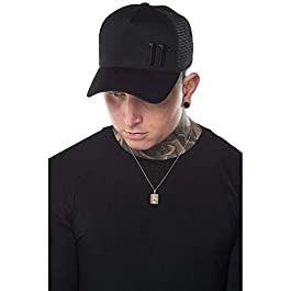 11 Degrees 1587 Trucker Hat Black Out
