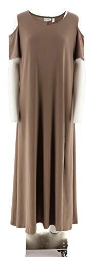 - Attitudes Renee Petite Solid Printed Set 2 Dresses Stone Animal P3X New A291603