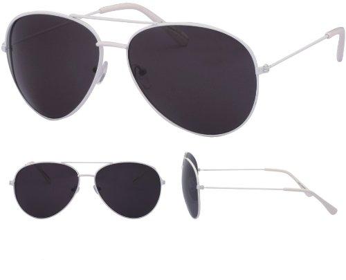 Monture de vintage retro Blanc soleil Fbi Lunettes tendance Pilote Noir Fashion Verre Aviateur 80's q6wXxwUT