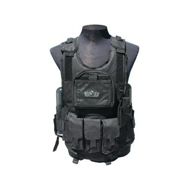 Gen X Deluxe Tactical Paintball Vest - Black by GENx