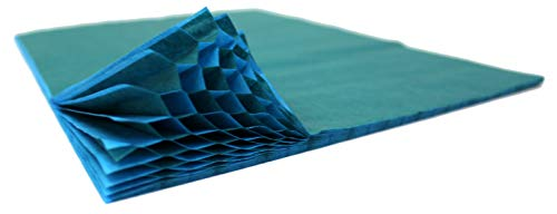 (3-Pack Honeycomb Paper Craft Pads, Mini Quarter Inch Glue Line, Two-Tone Teal and Turquoise (Pad Size 7 X 9.5 Inches))