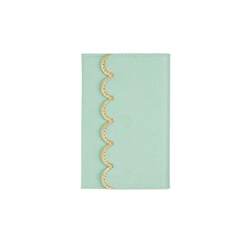 Eccolo World Traveler Scalloped Mini Memo Pad, Magnet Closure, 3x5, Pistachio/Gold