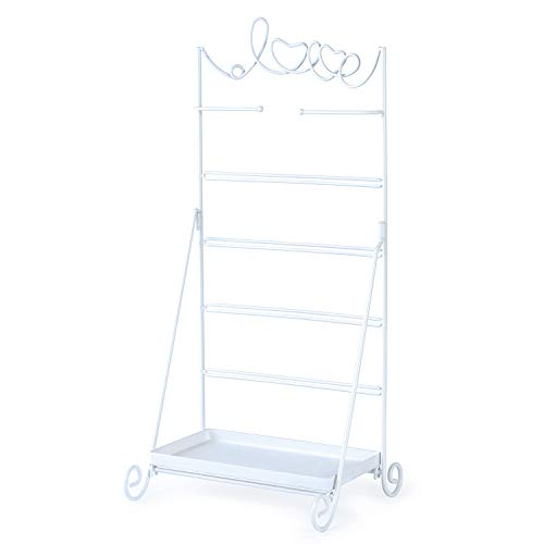 Love-KANKEI Earring Organizer Stand - 6 Tier Metal Jewelry Organizer with Large Storage for Necklace Bracelet Earring ()