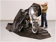 Zerust Rust Protection Motorcycle Storage Cover with Zip Closure and Soft Lining with Corrosion Prevention and Protection - 135 in x 70 in by Zerust (Image #5)