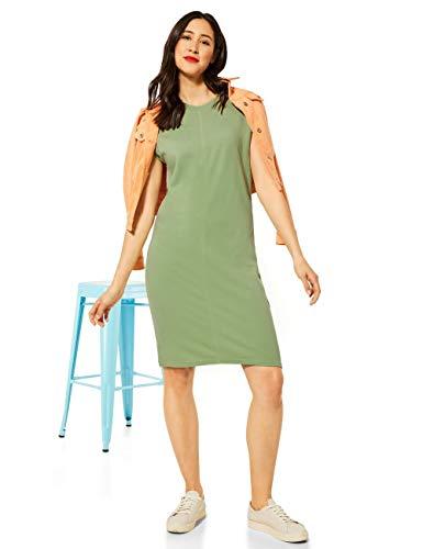 Street One Damen 142884 Kleid, Faded Green, 36