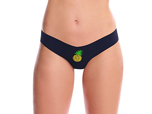 commando Assorted Applique Thongs – Sparkle Pineapple Patch