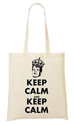 Slogan Sacchetto Di Tote Keep View French Calm Funny wO4BqUx