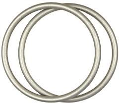 Pair of Authentic SlingRings, USA Made,Best Baby Aluminum Rings for Making DIY Ring Slings (Large, Silver)