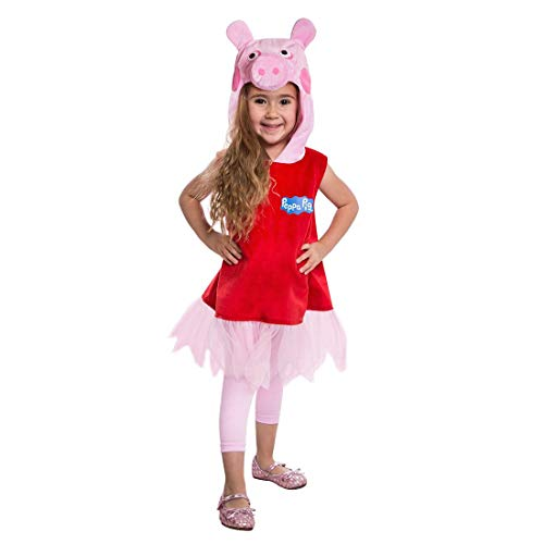 Peppa Pig Hooded Dress Costume 2-3T]()