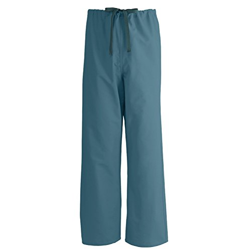 Caribbean Blue Unisex Reversible Scrub - Medline PerforMAX Reversible Drawstring Scrub Pant, ANG-CC, XS, Caribbean Blue