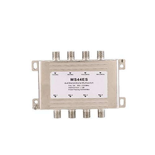 Dalkeyie 4 in 4 Out Signal Voltage Selected Switch Low Loss LNB Receiver Multiswitch