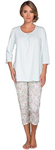 Italian Fashion IF Mujer Pijamas Anne 0222 Menta