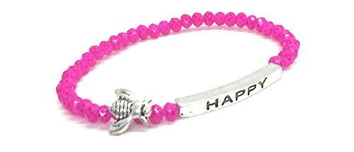 Happy Inspirational Bracelet Stacking Stretch product image