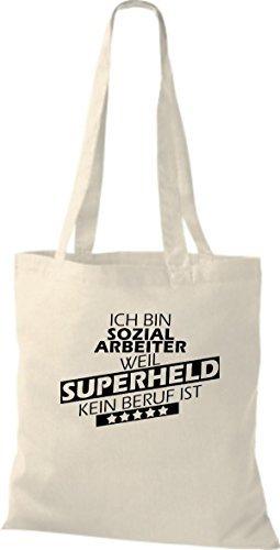 Shirtstown Bolso de tela Estoy Trabajador social, weil Superheld sin Trabajo ist natural