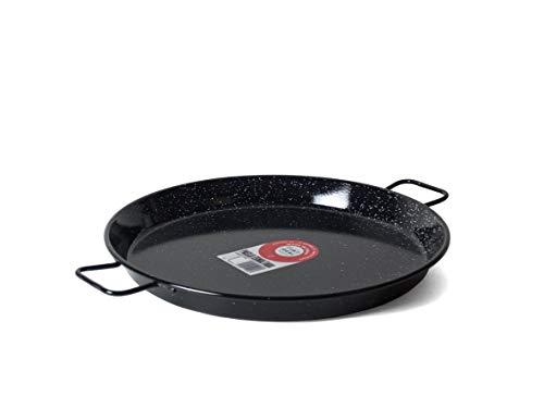 Garcima 14-Inch Enameled Steel Paella Pan, 36cm