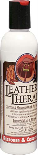 Leather Therapy Leather Care Products - Leather Conditioner and Restorer for Natural Leather -Leather Restoration - Leather Treatment for Dry Leather, Keeps Leather Soft, Helps Leather Last Longer, Helps Save Leather from Drying, Cleans Mold & Mildew Stains, 8 Ounce (Best Leather Restoration Products)