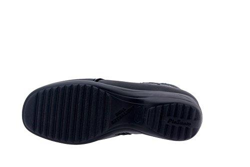 Calzado mujer confort de piel Piesanto 5955 botín cómodo ancho Negro