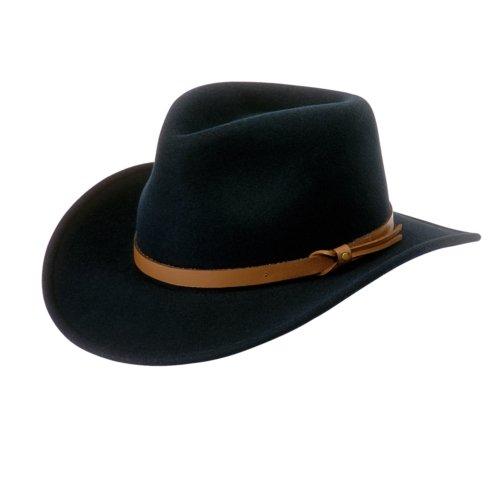 - Pantropic Men's Outback Lite Felt Feora Hat, Black, M