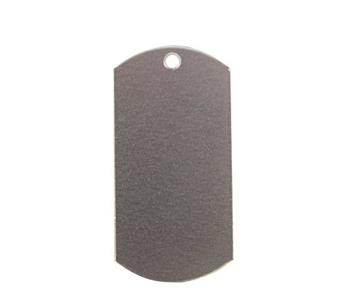 RMP Stamping Blanks, 1 Inch x 2 Inch Dog Tag with One Hole, Aluminum 0.063 Inch (14 Ga.) - 50 Pack