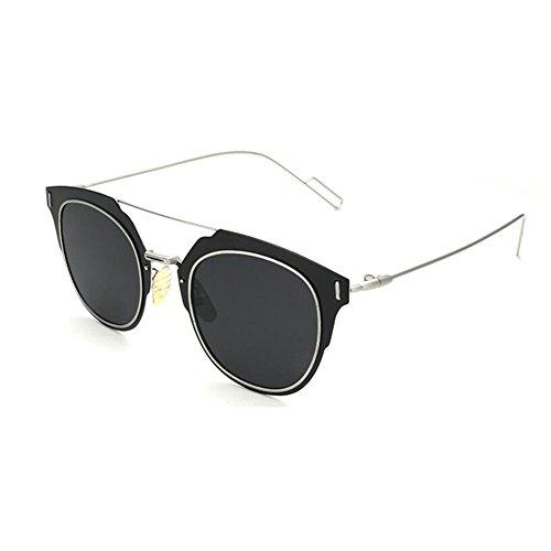 Ms Polarizada Redondo Classic gafas Solar Men de Marco de Espejo WYYY Gris Luz 100 Azul UVA Color Anti Protección Decoración oscuro sol Retro UV Anti qCtp7nXw