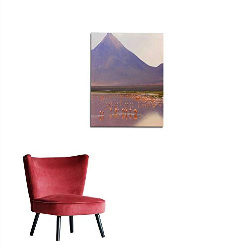 Wallpaper Impressive Laguna colorada - Red Lake Reflection Andean Flamingos Birds and Idyllic Altiplano Atacama Desert Volcanic Landscape Panorama - Potosi Region Bolivian Andes Bolíviamural 24